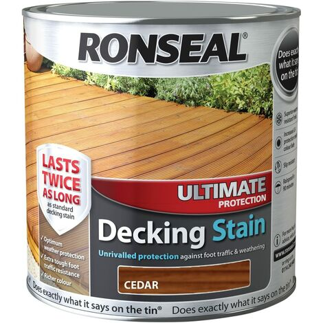 Ronseal UDSCE25L 2.5 Litre Ultimate Protection Decking Stain - Cedar