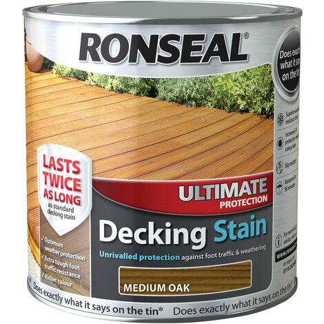 Ronseal UDSMO25L 2.5 Litre Ultimate Protection Decking Stain - Medium Oak