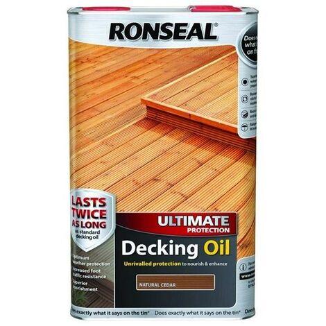 Ronseal Ultimate Decking Oil - Cedar - 5L