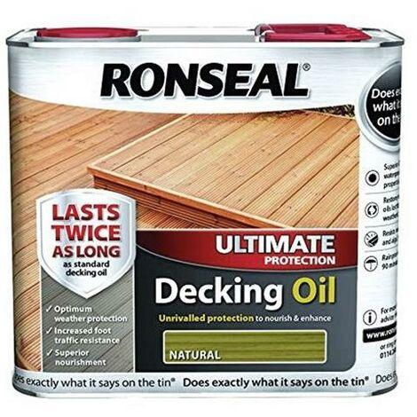 Ronseal Ultimate Decking Oil - Natural - 2.5L