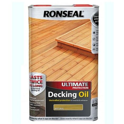 Ronseal Ultimate Decking Oil - Natural - 5L