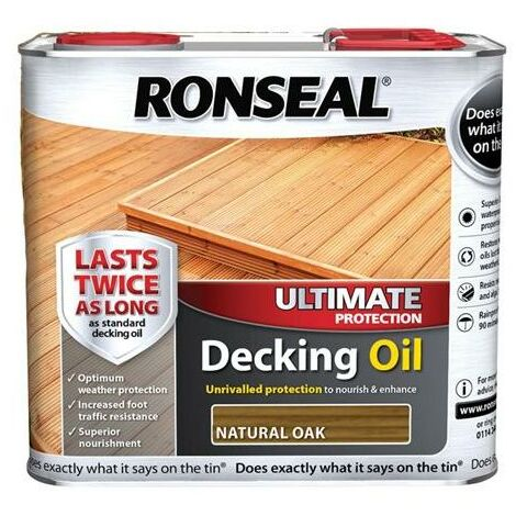 Ronseal Ultimate Decking Oil - Natural Oak - 2.5L