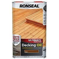Ronseal Ultimate Protection Decking Oil - 25% Extra Free - 5L for price of 4L