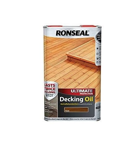 Ronseal Ultimate Protection Decking Oil - Garden Sun Rain Protection - 2.5 & 5 L