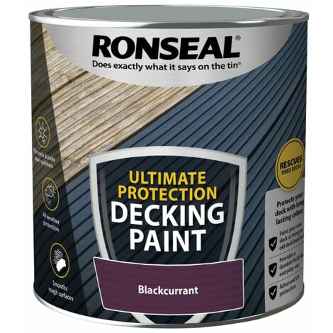 Ronseal Ultimate Protection Decking Paint Blackcurrant 2.5 litre