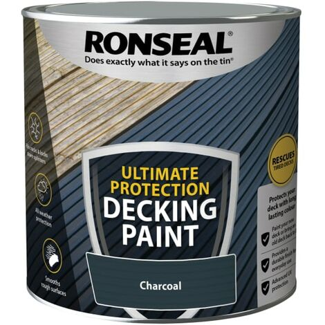 Ronseal Ultimate Protection Decking Paint Charcoal 2.5 litre