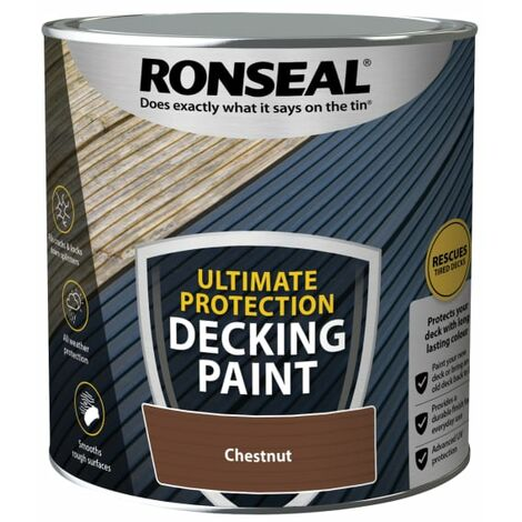 Ronseal Ultimate Protection Decking Paint Chestnut 2.5 litre