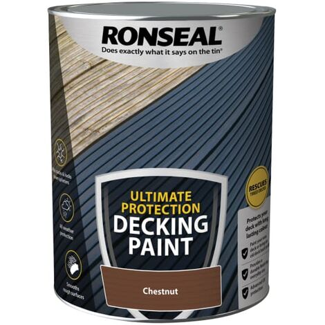 Ronseal Ultimate Protection Decking Paint Chestnut 5 litre