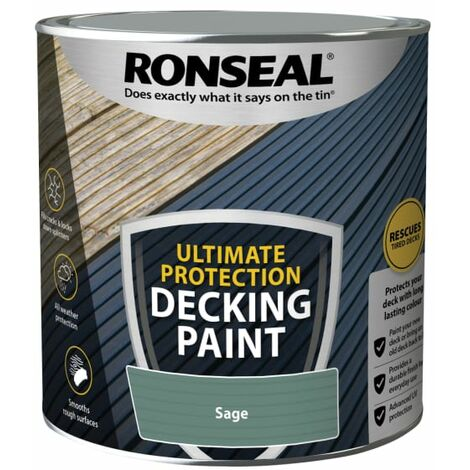 Ronseal Ultimate Protection Decking Paint Sage 2.5 litre