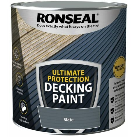 Ronseal Ultimate Protection Decking Paint Slate 2.5 litre