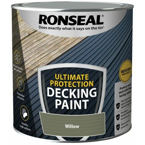Ronseal Ultimate Protection Decking Paint Willow 2.5 Litre