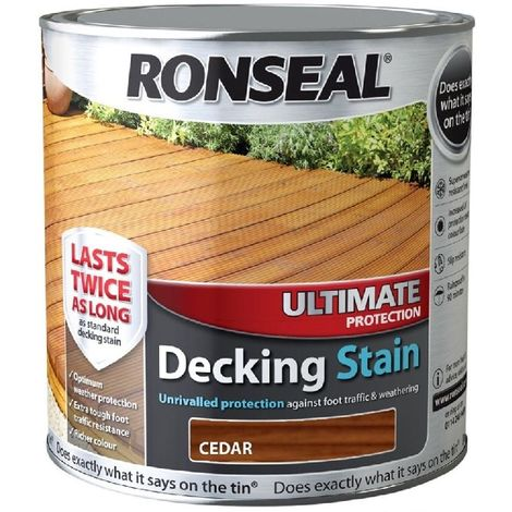 Ronseal Ultimate Protection Decking Stain - Long Lasting Protection