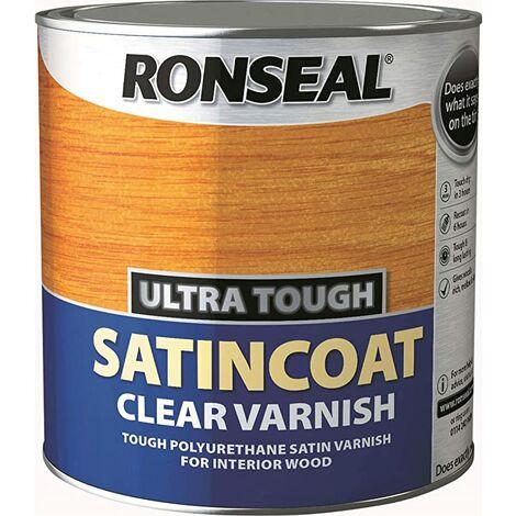 Ronseal UTVSC750 750ml Ultra Tough Internal Clear Satincoat Varnish by Ronseal