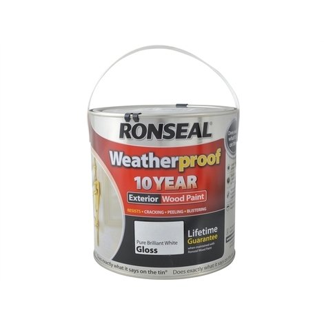 Ronseal Weatherproof 10 Year Wood Paint - Outdoor Exterior Protection