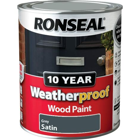 Ronseal WPDTG750 750 ml 10 Year Weatherproof Exterior Wood Deep Gloss Paint - Teal