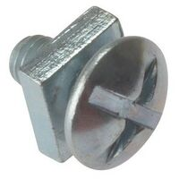 Roofing Bolts & Square Nuts, Zinc Plated, Bag