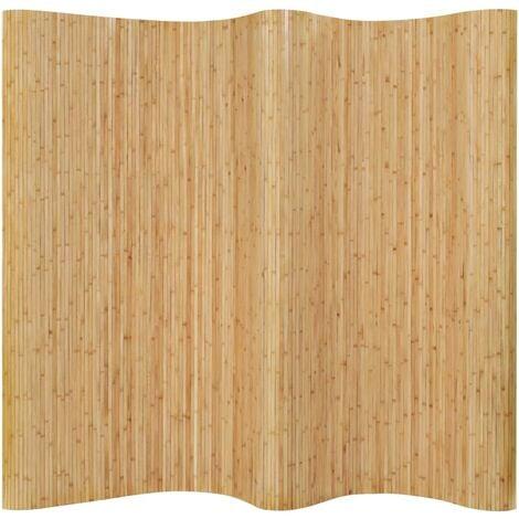 Room Divider Bamboo 250x165 cm Natural - Beige