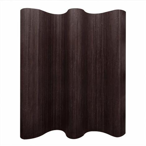 Room Divider Bamboo Dark Brown 250x165 cm - Brown