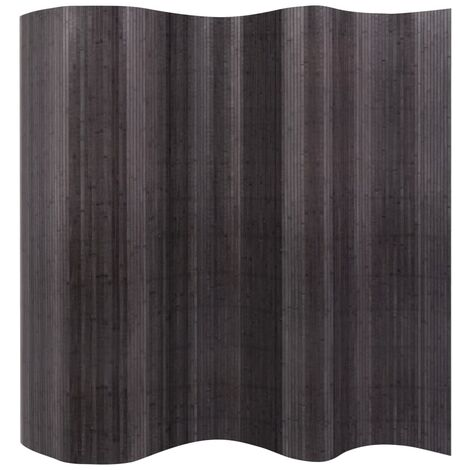 Room Divider Bamboo Grey 250x165 cm - Grey