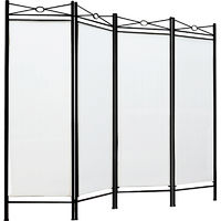 Room Divider Folding Paravent Foldable Wall Partition Privacy Screen Seperator Creme