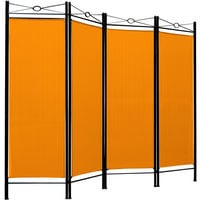 Room Divider Folding Paravent Foldable Wall Partition Privacy Screen Seperator Yellow