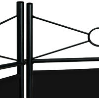 Room Divider Paravent Metal Frame Folding Black