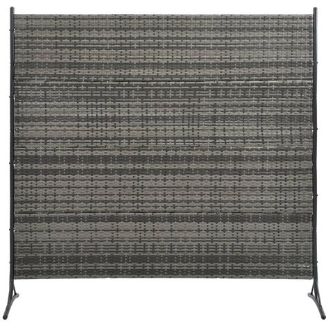 Room Divider Poly Rattan Anthracite 175x180 cm