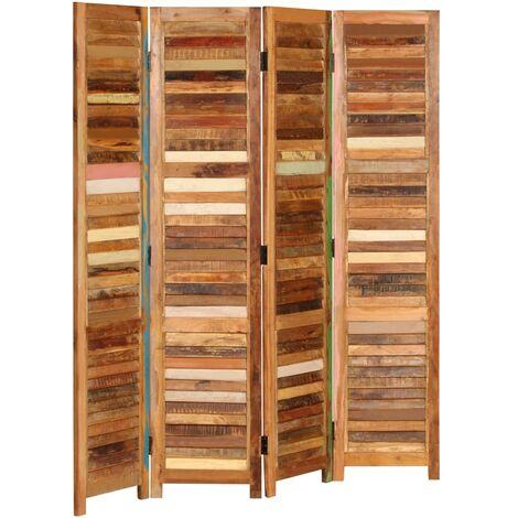 Room Divider Solid Reclaimed Wood 170 cm