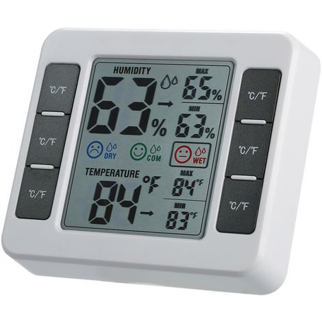 Room temperature and humidity meter CJ-3316D shipped without battery