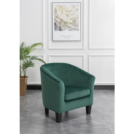 """main image of """"Roomee Living Room Fabric Tub Armchair with Wooden Legs"""""""