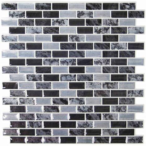 RoomMates Papel de pared StickTILES 4 unidades mármol TIL3229FLT - Multicolor