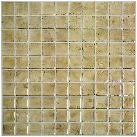 RoomMates Papel de pared StickTILES 4 unidades piedra TIL3230FLT - Beige