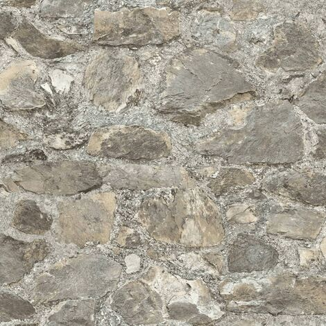 "main image of ""RoomMates Peel & Stick Wallpaper Weathered Stone Grey RMK9096WP - Grey"""