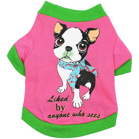 Ropa para mascotas, camisetas para perros, rosa, XS