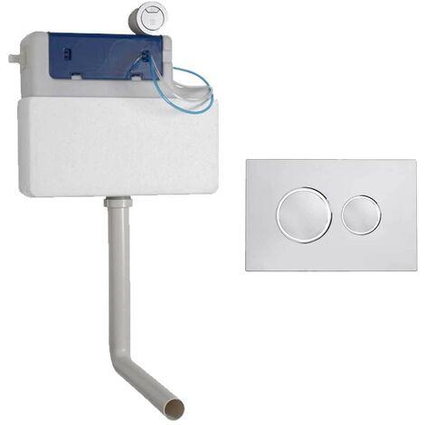 Roper Rhodes Cascade Concealed Dual Flush WC Toilet Cistern + Chrome Flush Plate