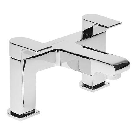 Roper Rhodes Code Deck Mounted Bath Filler Chrome 130mm x 230mm