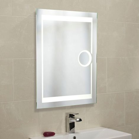 Roper Rhodes Corona Backlit Mirror with Shaver Mirror 800mm x 600mm