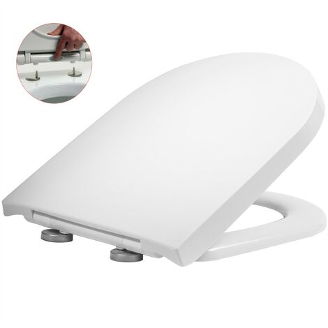 Roper Rhodes D Shaped Soft Close Toilet Seat - Top Fix Quick Release Easy Clean