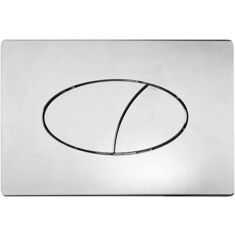 Roper Rhodes Ellipse Dual Flush Plate Button Chrome For TR9001 TR9002 TR9009