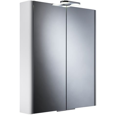 Roper Rhodes Entity Double Door White Lit Cabinet 700mm x 600mm