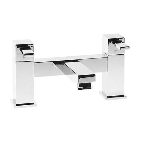 Roper Rhodes Factor Square Deck Mounted Bath Filler Chrome 215mm x 215mm
