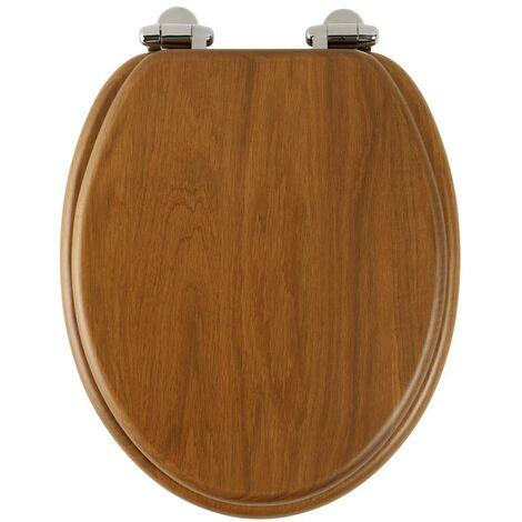 Roper Rhodes Honey Oak Wooden Soft Close Toilet Seat Top Fix Quick Release
