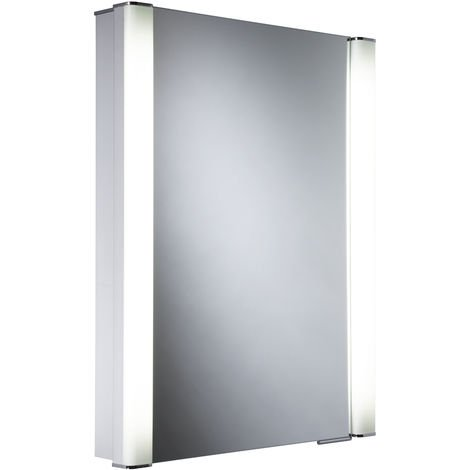 Roper Rhodes Illusion Single Door Lit Aluminium Cabinet