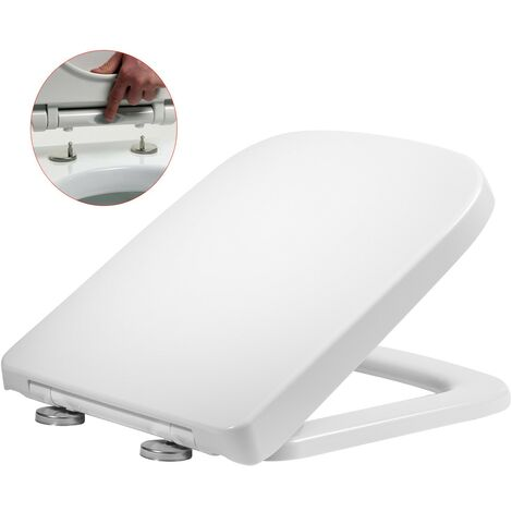 Roper Rhodes Linear Square Shaped Soft Close Toilet Seat - Top Fix Quick Release