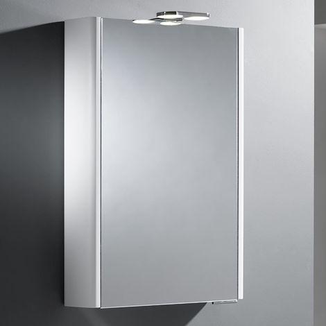 Roper Rhodes Phase Single Door White Lit Cabinet 700mm x 500mm