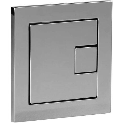 "main image of ""Roper Rhodes Square Dual Flush Plate Button Chrome For TR9001 TR9002 TR9009"""