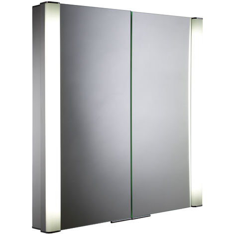 Roper Rhodes Transition Double Door Lit Aluminium Cabinet 710mm x 700mm