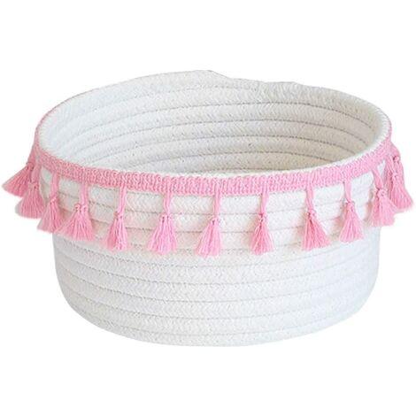Rosa natural cotton baby storage basket