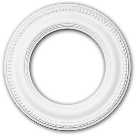 Rosace 156006 Profhome Élement pour plafond Élement décorative style Néo-Classicisme blanc Ø 33 cm