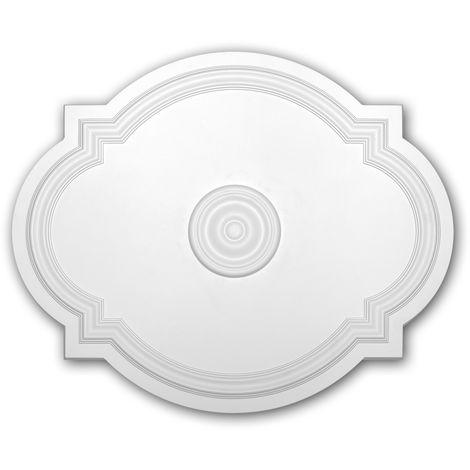 Rosace 156008 Profhome Élement pour plafond Élement décorative style Art Nouveau blanc 54 x 44 cm